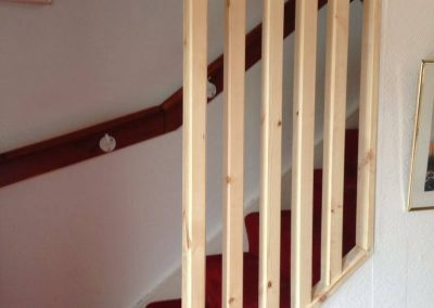 Stair infill to prevent a fall